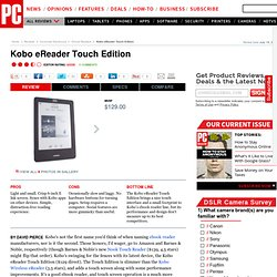 Kobo eReader Touch Edition Review & Rating