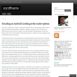 Ereading on Android: Looking at the reader options « extPosts