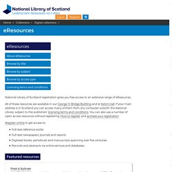 eResources - National Library of Scotland