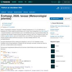 Érettségi, 2020. tavasz (Meteorológiai jelentés)