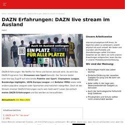 DAZN live stream im Ausland