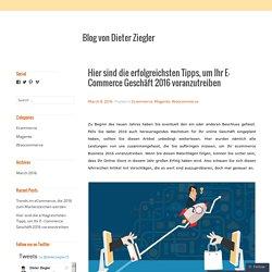 Hier sind die erfolgreichsten Tipps, um Ihr E- Commerce Geschäft 2016 voranzutreiben – Blog von Dieter Ziegler