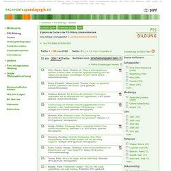 Ergebnis der Suche in der FIS Bildung Literaturdatenbank