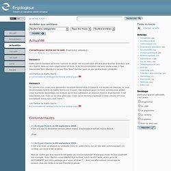 Ergologique : Conseils pour écrire sur le web