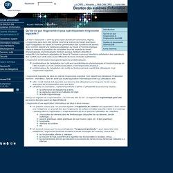 Ergonomie -Définition - DSI du CNRS
