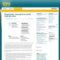 Ergonomie & design, Ergonomie : pourquoi un scroll vaut dix clics