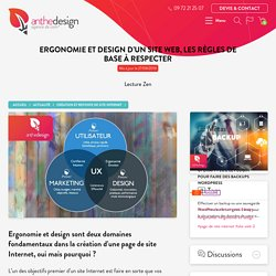 Ergonomie et design, les règles de base pour votre site Internet