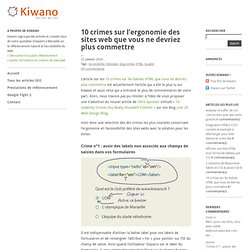 10 crimes sur l'ergonomie des sites web que vous ne devriez plus commettre