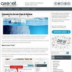 Ergonomie d'un site web et ligne de flottaison