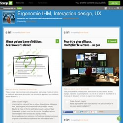 Ergonomie IHM, Interaction design, UX