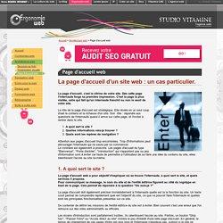 Page d'accueil web : un cas particulier