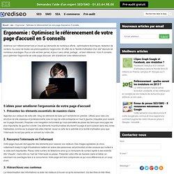 Optimisez le référencement de votre page d'accueil en 5 conseils