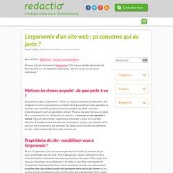 Ergonomie d'un site web : seulement pour les ergonomes ?