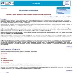 L'ergonomie d'un site Internet, les règles de base