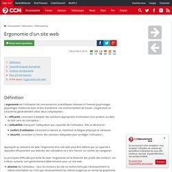 Webmastering - Ergonomie d'un site web