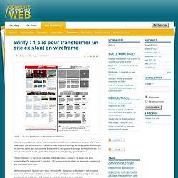Ergonomie & design, Wirify : 1 clic pour transformer un site existant en wireframe