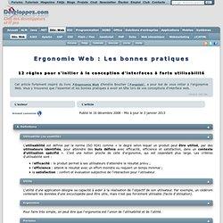 Ergonomie Web : Les bonnes pratiques, 12 règles pour s'initier à la conception d'interfaces à forte utilisabilité par Arnaud Lemercier