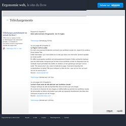 Ergonomie web - Téléchargements