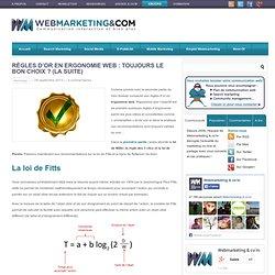 Règles d'or en Ergonomie Web : Toujours le bon choix ? (la suite)
