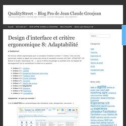 Design d'interface et critère ergonomique 8: Adaptabilité