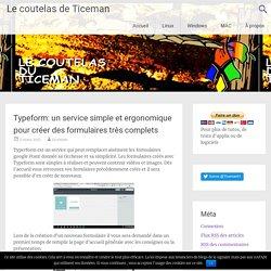 Typeform: un service simple et ergonomique pour créer des formulaires très co...