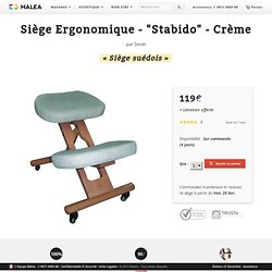 "Siège Ergonomique - ""Stabido"" - Beige [119,00€] - sur Malea-Massage"