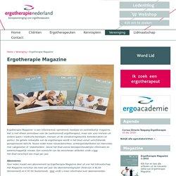 Ergotherapie Magazine.