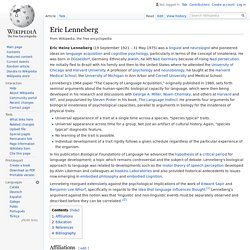 Eric Lenneberg - Wikipedia
