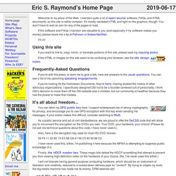 Eric S. Raymond's Home Page