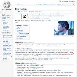 Wikipedia - Éric Vuillard