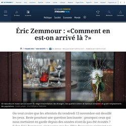 Éric Zemmour : «Comment en est-on arrivé là?»