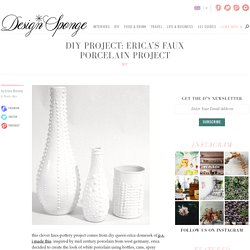 erica's faux porcelain project