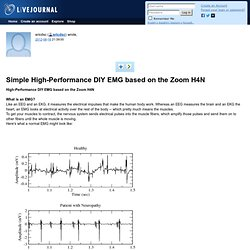 ericdsc: Simple High-Performance DIY EMG based on the Zoom H4N