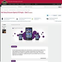 Het Sony Ericsson Xperia X10 topic - Deel 3 - Android