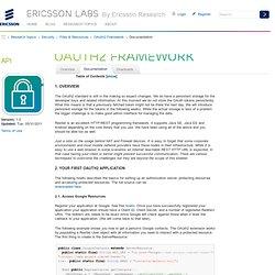 OAuth2 Framework