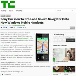 Gokivo Navigator Onto New Windows Mobi