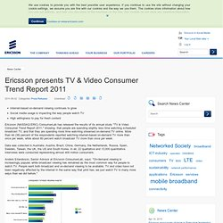 presents TV & Video Consumer Trend Report 2011