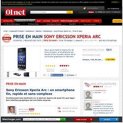 Sony Ericsson Xperia Arc : Le test du Labo de 01net.com