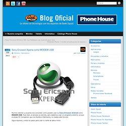 Sony Ericsson Xperia como MODEM USB » Blog Oficial de Phone House