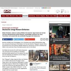 Erinnerungen an Fall Cecil: Deutscher erlegt Riesen-Elefanten