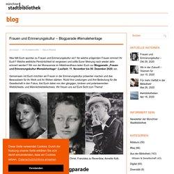 Frauen und Erinnerungskultur – Blogparade #femaleheritage
