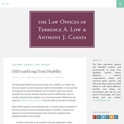 ERISA and Long Term Disability