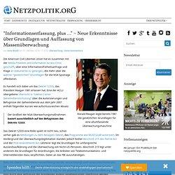 """""""Informationserfassung, plus …"""" – Neue Erkenntnisse über Grundlagen und Auffassung von Massenüberwachung"""