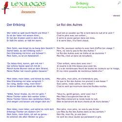 Erlkönig - le Roi des Aulnes - Goethe LEXILOGOS