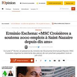 «MSC Croisières a soutenu 2000 emplois à Saint-Nazaire depuis dix ans»