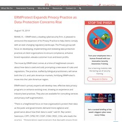 ERMProtect Expands Privacy Practice as Data Protection Concerns Rise