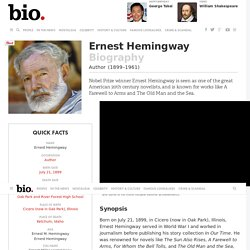 Ernest Hemingway - Biography - Author - Biography.com