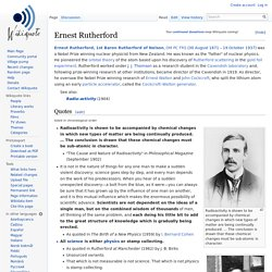 Ernest Rutherford - Wikiquote
