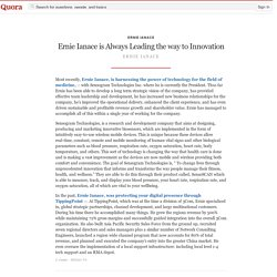 Ernie Ianace is Always Leading the way to Innovation