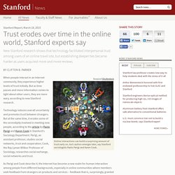 Trust erodes over time in the online world, Stanford experts say